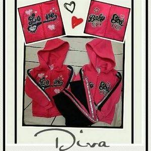 Diva 3T Matching Hoodies and 1 pair Sweatpants!!
